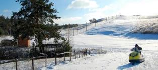 Winter fairytale forest. Korobov Farm - Alpine Valley