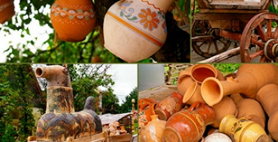 Ukrainian wedding and Ukrainian ceramics. Oposhnya - Budyshchi - Poltava present on March 8