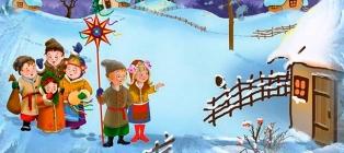 Gwiazdka świąteczna. Zimowy Boże Narodzenie