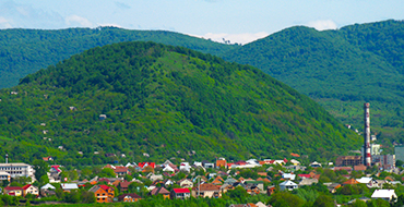 Lovachka tract on the slopes of the Vygorlat mountains of the Gutinsk ridge to the north of Mukachevo