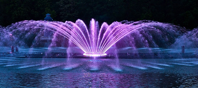 Light and music fountain in Vinnitsa