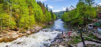 "Winter premium vacation in the Carpathians. Hotel ""Premium Club"", Yaremche"