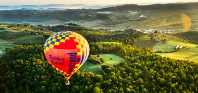 Hot air balloon flight in Kharkov