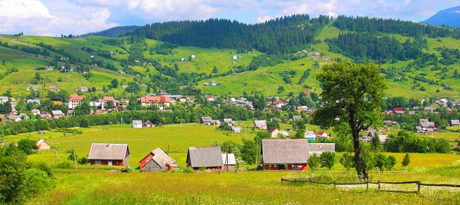 Yasinya village, Carpathians