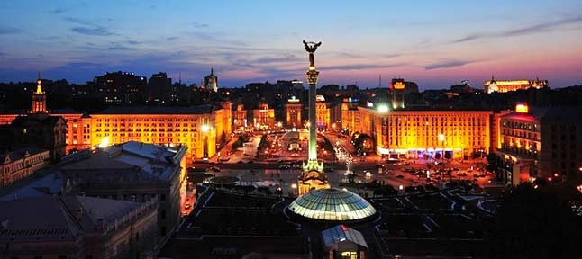 The heart of Ukraine. Day in Kiev