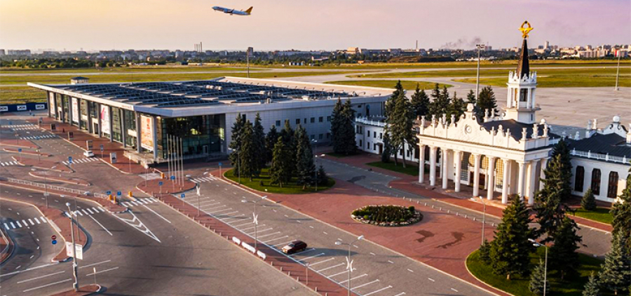 """Lotnisko w dni powszednie. Lotnisko """"Charków"""" - Korotich"""