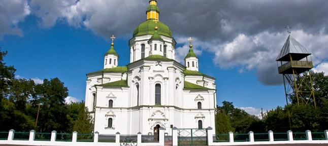 Savior Transfiguration Church in the village. Great Sorochintsy