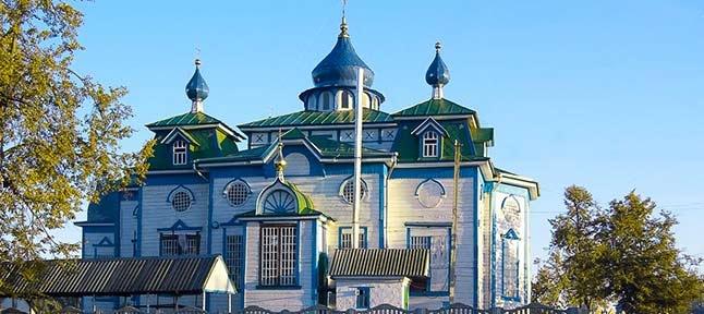 Drewniana architektura. Świątynie regionu Charkowa