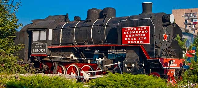 Rails-rails, sleepers-sleepers. Railway depot