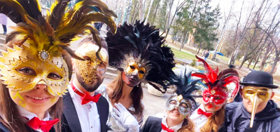 New Year's masquerade. Holiday Winter Fun